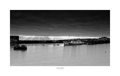 Light and Dark (Myrialejean) Tags: bridlington harbour yorkshire belle water coast seaside boat sky monochrome blackandwhite eastcoast cloud
