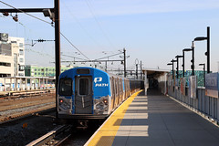 PATH train at Harrison station in Newark (Michael Erhardsson) Tags: path train local commuting commuter trainspotting newjersey newark harrison station railway infrastructure track transportation public pathtrain newyork worldtradecenter destination city urban communication usa unitedstates northamerica