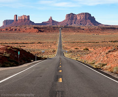 Monument Valley ahead (Lebowitz Photography) Tags: monument valley milemarker 13 forrest gump movie utah travel scenic