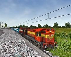 GUNTAKAL WDM3A 16333R (Sankesh C Bhute) Tags: gtl wdm3a r open rails scr route broad gauge production indian railways simulation