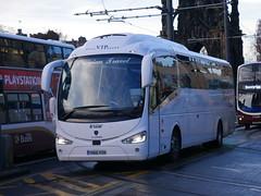 Creigiau Travel of Cardiff Scania K360IB4 Irizar i6 YN66VSN at Princes Street, Edinburgh, on 12 November 2018. (Robin Dickson 1) Tags: busesedinburgh scaniak360ib4 irizari6 yn66vsn creigiautravelfcardiff huytoncoachesofwidnesvisiontravel