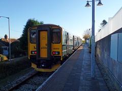 150202 Gunnislake (5) (Marky7890) Tags: gwr 150202 class150 sprinter 2p87 gunnislake railway cornwall tamarvalleyline train