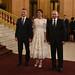 Llegada de los líderes y sus acompañantes al Teatro Colón