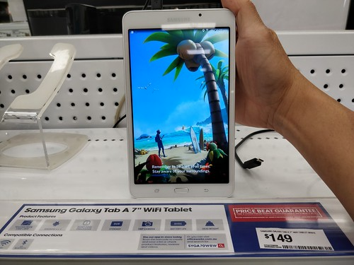Pokemon Go loading - Samsung Galaxy Tab A 7-inch AUD149 at Officeworks