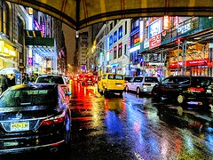 Rainy Koreatown (Arutemu) Tags: ny nyc newyorkcity newyork midtownmanhattan manhattan citylights cityscape ciudad city ville view night nightshot nightview nighttime nightstreet koreatown korean asian asia 都市 都市景観 アメリカ 米国 美国 都会 コリアタウン