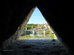 Le Pont Vittorio Emmanuel II vu du Castel san Angelo