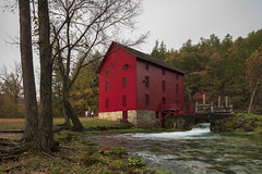 The Mill at Alley Spring (Notley Hawkins) Tags: httpwwwnotleyhawkinscom notleyhawkinsphotography notley notleyhawkins 10thavenue 2018 water shannoncountymissouri landscape rural ozarknationalscenicriverways ozark ozarks alleymill alleyspring trees forest tree statepark fall autumn outdoors reflect reflection november spring people