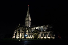 Salisbury Cathedral At Night (Crisp-13) Tags: salisbury cathedral night after dark spire