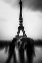 3333 (Elke Kulhawy) Tags: paris eifeltower bw bnw monochrome lensbaby art kunst surreal grain black grey
