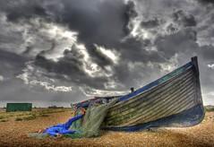 Capsized (pauldunn52) Tags: dungeness boat net old wooden sky storm long exposure paul