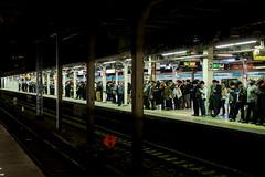 night station (kasa51) Tags: people street station platform night light yokohama japan
