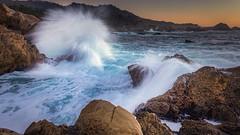 Return to the Sea (PrevailingConditions) Tags: ca california pointlobos surf sunset waves water rocks splash