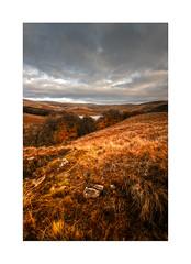 Landscape in Portrait (Missy Jussy) Tags: landscape lancashire northwest pennines outdoor outside countryside rural hillside rochdale reservoir piethornevalley valley sky clouds water rocks trees 1024mm tamron1024mm tamron1024 tamron canon canon600d canoneos600d colourful autumn fall