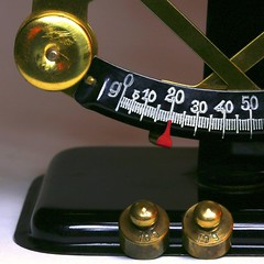 balance: 10g + 10g = 20 gram (HansHolt) Tags: letter balance metal weights brass scale 10 gram square macro canoneos6d canonef100mmf28macrousm macromondays hmm