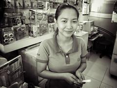Stranger 73/100 (Stitch) Tags: 100strangers hellostranger stranger portrait woman lady girl saleslady standing sales photolab fujifilm centris quezoncity manila philippines