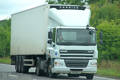 DAF CF PE61 MLZ (SR Photos Torksey) Tags: transport truck haulage hgv lorry lgv logistics road commercial vehicle freight traffic daf cf