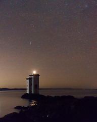 Carriag Fhada Lighthouse at Night! (captures.in.time) Tags: night nightphotography landscape landscapephotography scotland islay highlands islands argyleandbute lighthouse sea irishsea light stars experiment canon canonphotography ngm ngc