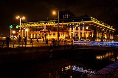 Streets of Gothenburg (Maria Eklind) Tags: centralstation bluehour gothenburg göteborg twilight sweden city drottningtorget clarionhotelpost kvarnbron västragötalandslän sverige se