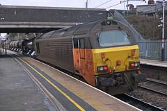 Colas Rail 67027 and 67023 - Flitwick (Neil Pulling) Tags: colasrail67027 colas 67023 flitwick rhtt railheadtreatmenttrain 67027