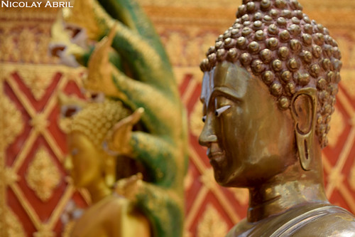 Copper Buddha at Wat Phra That Doi Suthep