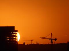 Out from the building (seikinsou) Tags: brussels belgium bruxelles belgique summer series sunset crane midsummer dusk skyline sky cloud