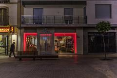 Cold red at night (Ignacio M. Jiménez) Tags: ignaciomjiménez streetphotography street night fotografiacallejera calle noche rojo red luces lights ubeda jaen andalucia andalusia españa spain afu afuubeda afutando