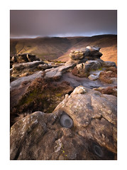 Cold as Ice (Dave Fieldhouse Photography) Tags: kinderscout kinder mountain peakdistrict peaks peak nationalpark winter ice sunrise derbyshire portrait landscape outdoors uk countryside rocks gritstone light shade grass clouds wideangle wide fuji fujifilm fujixt2