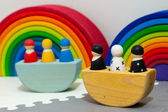 grimm's wooden toys (jojoannabanana) Tags: 3652018 boat colorful colors grimmsspielundholz rainbow toys wooden
