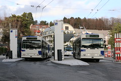 2018-12-20, TL, Pully Val-Vert (Fototak) Tags: trolleybus remorque filobus obus naw hess lausanne switzerland tl ligne7 775 785 752 928