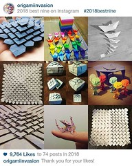 #origami #origamiart #papercraft #paper #paperart #craft #paperfolding #bestnine2018 (OrigamiInvasion) Tags: origami paperfolding papercraft paper craft