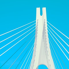 GALACTIC BRIDGE XXVII (Honevo) Tags: honevo hönevo bridge puente galactic blue europe europa