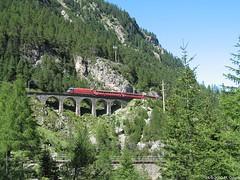 Albulapass (ilbassodigenova) Tags: albula pass bernina express switzerland train narrowgauge red treni svizzera scartamento ridotto