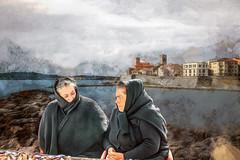 Vendeuses de poissons à Antibes (Xtian du Gard) Tags: xtiandugard montage fake portraits nazaré antibes painting