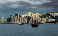 Causeway bay, Hong Kong (Bokeh & Travel) Tags: causeway bay hongkong hk china architecture junk boats seascape seasideview skyscrapers cityscape water sea kowloon panorama landscape convention center colorful beautiful asia