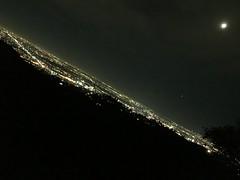 Cityscape of Los Angeles at Night (hinxlinx) Tags: los angeles night city moon lights