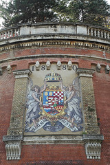 Tiled mural (NottsExMiner) Tags: budapest canoneos7d wallart hungary