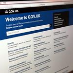 The GOV.uk website homepage thumbnail