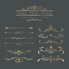 Vintage ornamental design elements (nobir899) Tags: badge banner calligraphic calligraphy collection copper copyspace decor decoration decorative design designspace elegant element empty filigree flourish frame gold golden graphic gray graybackground illustrated illustration label logo luxury old ornament ornamental placeyourtexthere retro set space style text texthere vector victorian vintage yourtexthere