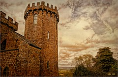 All along the watchtower (Jan 130) Tags: battleofedgehill jan130 castleatedgehill castlehotel ramparts civilwar england olivercromwell charles1st clouds geotagged history topazstudio hatswonderful jan