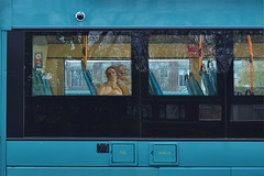 The Transit of Venus (Apionid) Tags: transitofvenus bus blue botticelli transport werehere hereios window nikond7000