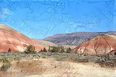 DDG-itized Painted Hills (Oregon) (Eclectic Jack) Tags: ddg generator dream deep processing processed process post manipulated hills painted paintedhills oregon october 2018