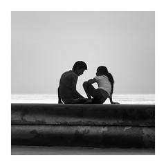 LA PAREJA  ( La Habana-Cuba ) (RAMUBA) Tags: blanco y negro black white pareja couple malecon la habana cuba partner