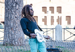 Rasta man playing guitar (sony73*) Tags: man african musician guitar rome rasta reggae music playing outdoor leisure handsome adult