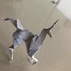 Origami Unicorn II (hinxlinx) Tags: origami paperart paperanimal papercreatures papercreature origamicreature papercrafts origamiart origamianimal origamiunicorn unicorn paperunicorn bladerunnerorigamiunicorn bladerunnerorigami gaffunicorn fantasycreature hinxlinx ericlynxlin elynx atlantix軒 picofinstagram