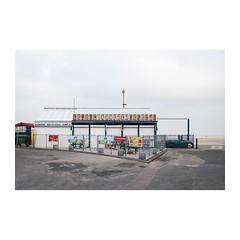 Beach House Cafe (John Pettigrew) Tags: lines tamron d750 colours space mundane documentary topographics bollards imanoot banal angles closed johnpettigrew 2470mm cafe railings nikon signs documenting seaside