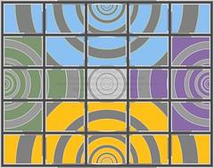 High Vis 13. (Julian F Jones) Tags: art artprint modernart abstract vectorgraphic colourful geometric patterns circles productdesign products contemporary yellow violet blue green