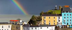 Tenby in technicolour (snowyturner) Tags: tenby wales pembrokeshire sky rainbow colourful shower rain harbour buildings rooftops windows