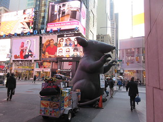 2019 Giant Strike Rat Balloon Corner of 45th St NYC 3695