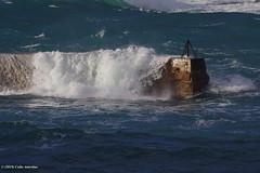 3KA11631a_C (Kernowfile) Tags: pentax cornwall cornish sennen sennencove pier breakwater water sea wave breakingwave spray foam