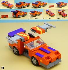 Thunderhawk Transformation (Hobbestimus) Tags: lego mask mobilearmoredstrikekommand thunderhawk matttrakker 80s cartoon toys moc